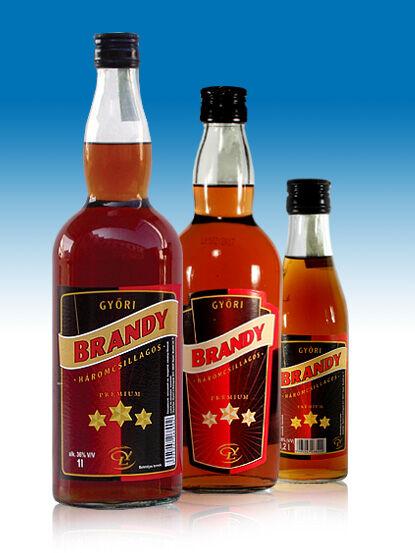 Győri Háromcsillagos brandy 36% 0,04l