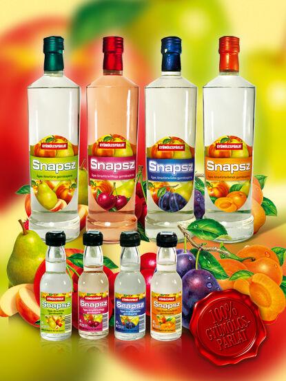 Snapsz Ágyas alma-körte-barack gyümölcspárlat 37,5% 0,5l