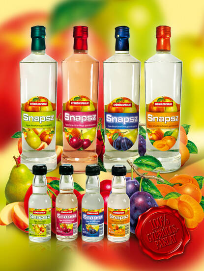 Snapsz Alma-körte-barack gyümölcspárlat 37,5% 0,2l
