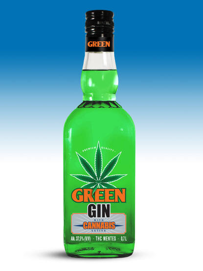 Green Gin with Cannabis 37,5% 0,7 F